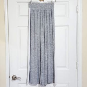 Supersoft Grey and White Wide Leg Lounge Pants